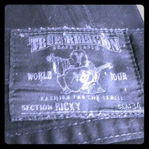 Men's Black Denim True Religion Jeans (Size 32)